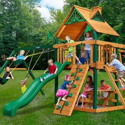 Cayman Swing Set with Timber Shield