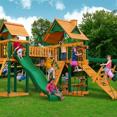 Cimmaron Swing Set with Timber Shield Grassy