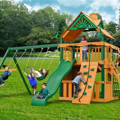 Horizon Clubhouse Swing Set with Timber Shield