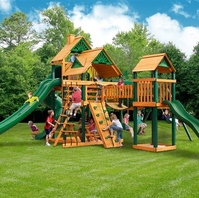 The Reserve II Swing Set with Timber Shield Grassy