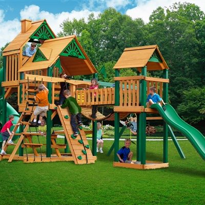 The Reserve Swing Set with Timber Shield Grassy