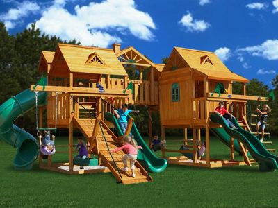 Abby's Palace Swing Set