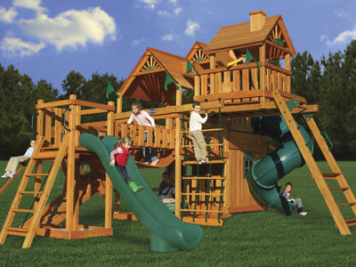 Hunter's Deluxe Swing Set