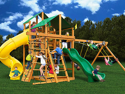 Royal Crusoe's Treehouse Swing Set