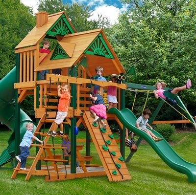 Grand Summit I Swing Set with Timber Shield Grassy