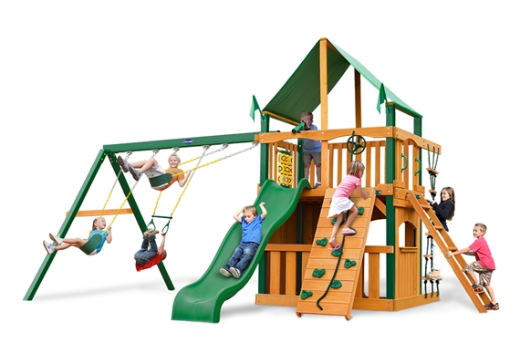 Horizon Clubhouse Swing Set ...  sc 1 st  USA Play & Horizon Clubhouse Swing Set with Timber Shield - USA Play