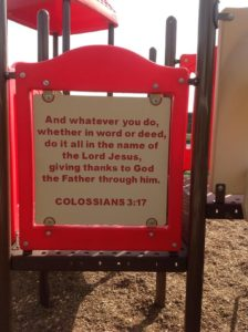This is a custom Bible Panel verse which we love to do.